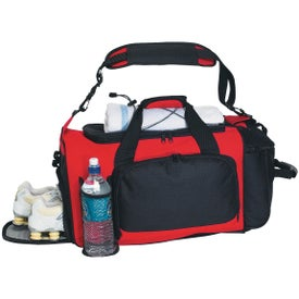 Deluxe Sports Duffel Bag Printed with Your Logo