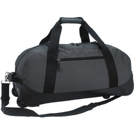 Branded Deluxe Wheeled Duffel Bag