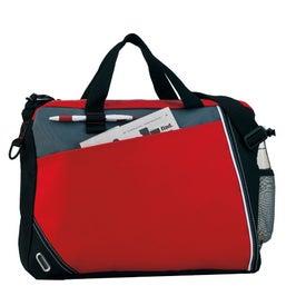Imprinted Diagonal Pocket Briefcase