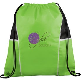 Diamond Drawstring Backpack Imprinted with Your Logo