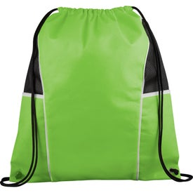 Printed Diamond Drawstring Backpack
