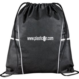 Customized Diamond Drawstring Backpack