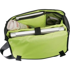 Disrupt Recycled Compu-Messenger Bag Imprinted with Your Logo
