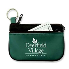 Double Pocket Coin and Key Zippered Pouch for Marketing