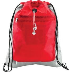 Branded Double Square Drawstring Bag