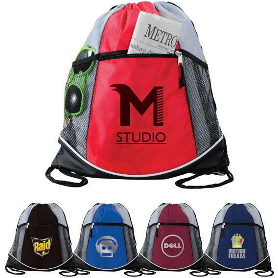 Double Take Drawstring Backpack