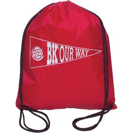 Drawstring Backsack with Your Slogan