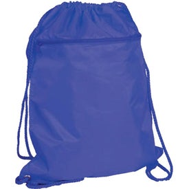 Drawstring Backpack with Zipper Pocket for Advertising