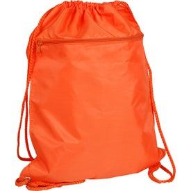Custom Drawstring Backpack with Zipper Pocket