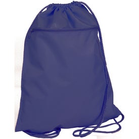 Printed Drawstring Backpack with Zipper Pocket