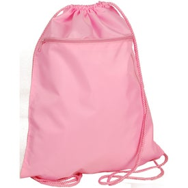 Promotional Drawstring Backpack with Zipper Pocket