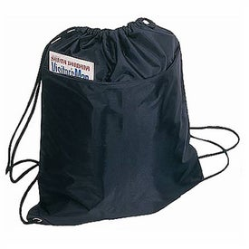 Imprinted Drawstring Backpack with Zipper Pocket