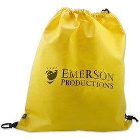 Advertising Non Woven Polypropylene Drawstring Backpack
