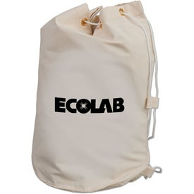 Drawstring Cotton Barrel Bag Imprinted with Your Logo