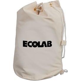 Drawstring Cotton Barrel Bag Imprinted with Your Logo