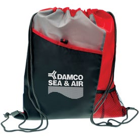 Polyester Drawstring Sport Pack Printed with Your Logo