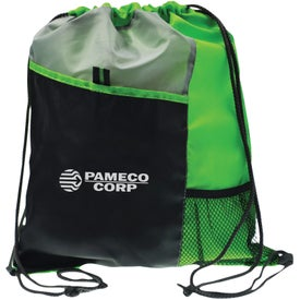 Imprinted Polyester Drawstring Sport Pack