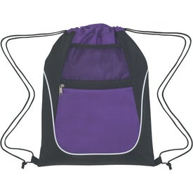 Personalized Drawstring Sports Pack With Dual Pockets
