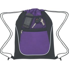 Branded Drawstring Sports Pack With Dual Pockets