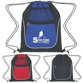 Advertising Drawstring Sports Pack With Dual Pockets