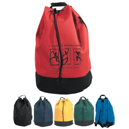Promotional Drawstring Tote / Backpacks with Custom Logo for $4.27 Ea.