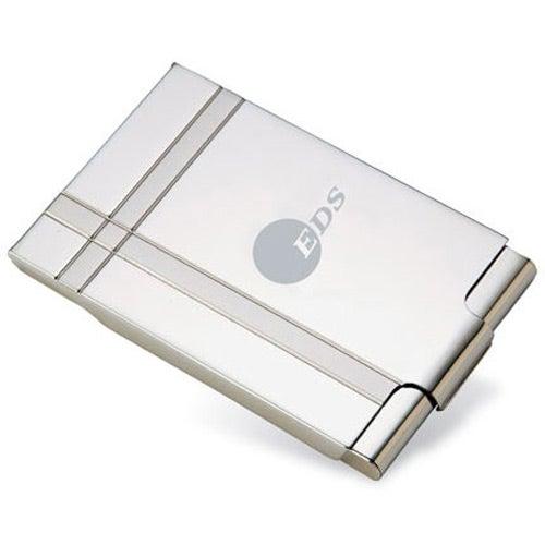 Dual Tone Metal Business Card Holder Custom Bags