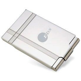 Dual Tone Metal Business Card Holder