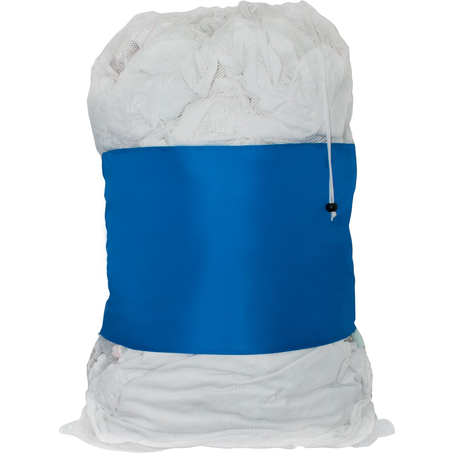 Picture dorms and locker rooms filled with your logo when you customize this polyester laundry bag for your business promotion. The T polyester, similar to tent fabric, has its waterproof qualities enhanced with a mil black vinyl front panel.