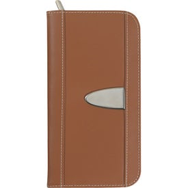 Eclipse Bonded Leather Travel Wallet with Your Slogan