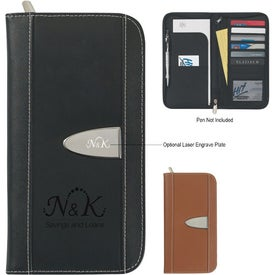 Eclipse Bonded Leather Travel Wallet for Customization