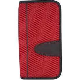 Promotional Eclipse Mesh Travel Wallet with Zipper