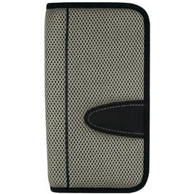 Advertising Eclipse Mesh Travel Wallet with Zipper