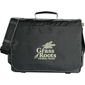 Eco 51% Recycled Owl Business Messenger Bag Branded with Your Logo