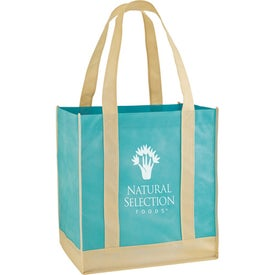 Eco Carry Two Tone Shopping Bag Imprinted with Your Logo