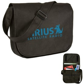 Eco-Friendly Non Woven Messenger Bag Imprinted with Your Logo
