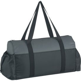 Imprinted Two-Tone Econo Duffel Bag