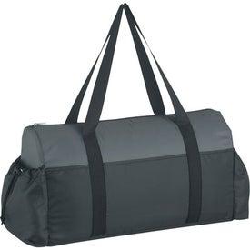 Imprinted Two-Tone Econo Duffel Bag