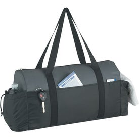 Two-Tone Econo Duffel Bag Branded with Your Logo
