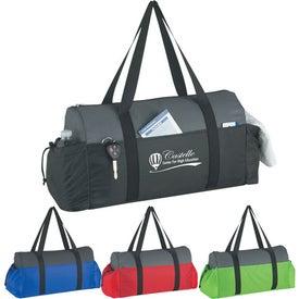 Logo Two-Tone Econo Duffel Bag