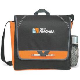 Elation Messenger Bag Imprinted with Your Logo