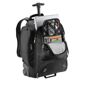 Monogrammed Elleven Wheeled Security Friendly Compu Backpack