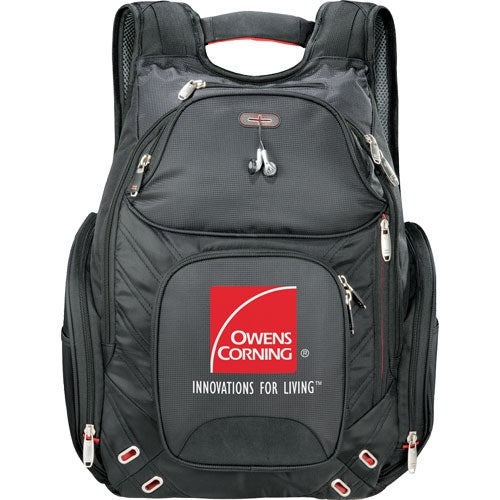 Black Elleven Amped Checkpoint-Friendly Compu-Backpack