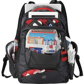 Monogrammed Elleven Vapor Checkpoint-Friendly Compu-Backpack
