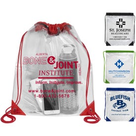 Everest Tall Clear Drawstring Cinch Pack Backpack