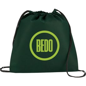 Personalized Evergreen Drawstring Backpack