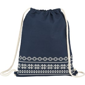 Fair Isle Cotton Cinch Bag