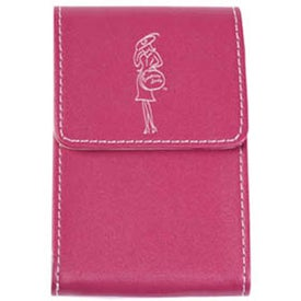 Faux Leather Business Card Case with Your Slogan
