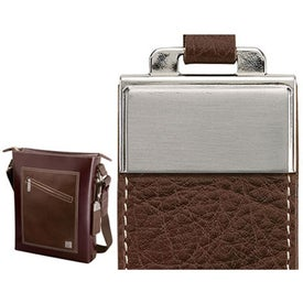 Promotional Ferrara Slick and Palm Leather Shoulder Bag