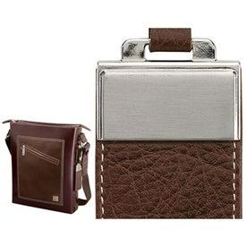 Promotional Ferrara Slick and Palm Leather Shoulder Bag