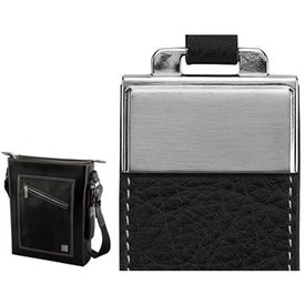 Ferrara Slick and Palm Leather Shoulder Bag for Your Company